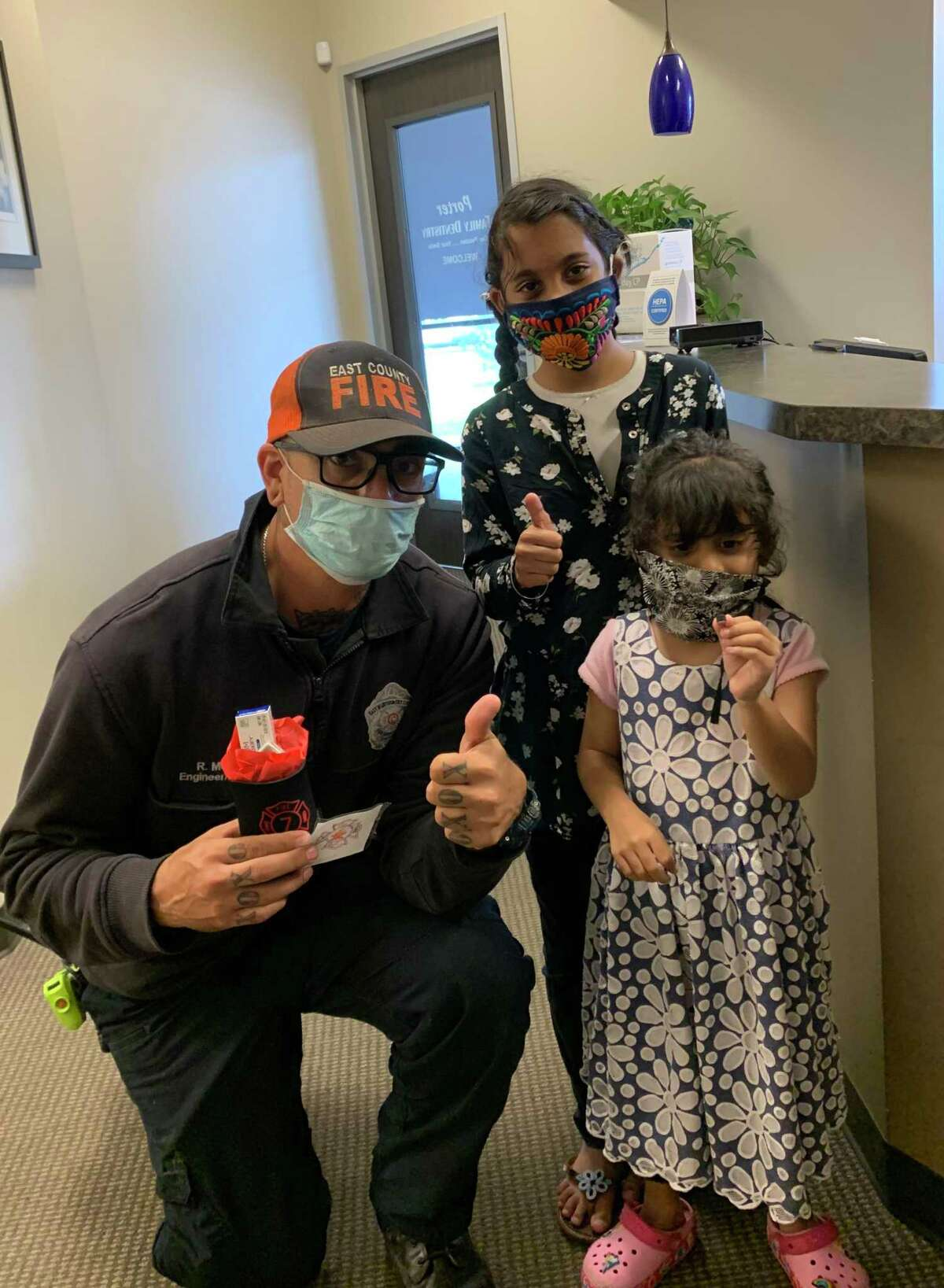 Recently, Porter Family Dentistry began offering free oral cancer screenings for firefighters in the county as a way to give back. The dental office plans on making it an annual tradition.