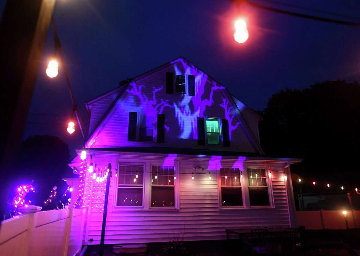 Rebecca Lore and Sean Sloate's Ridgeview Avenue home is decorated for Halloween, part of the Trumbull Terror Trail, in Trumbull , Conn. on Tuesday, October 13, 2020.