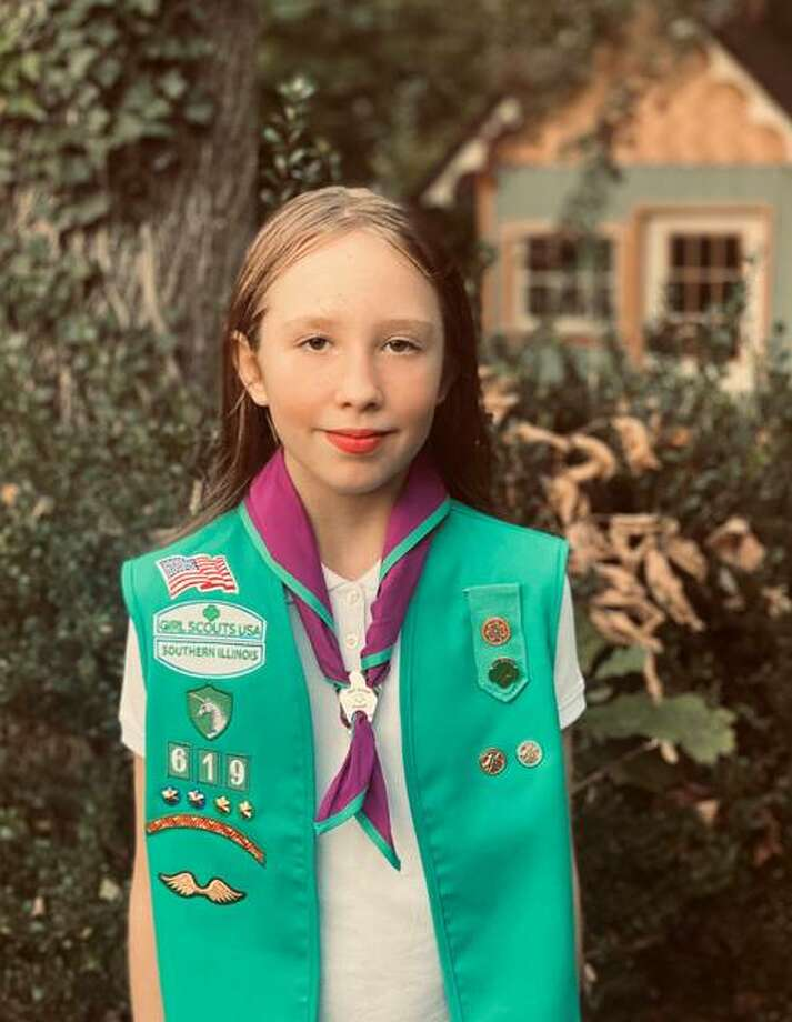 O'Fallon Girl Scout Gretel Ulmer, a third-grader, received a Medal of Honor. Photo: For The Intelligencer