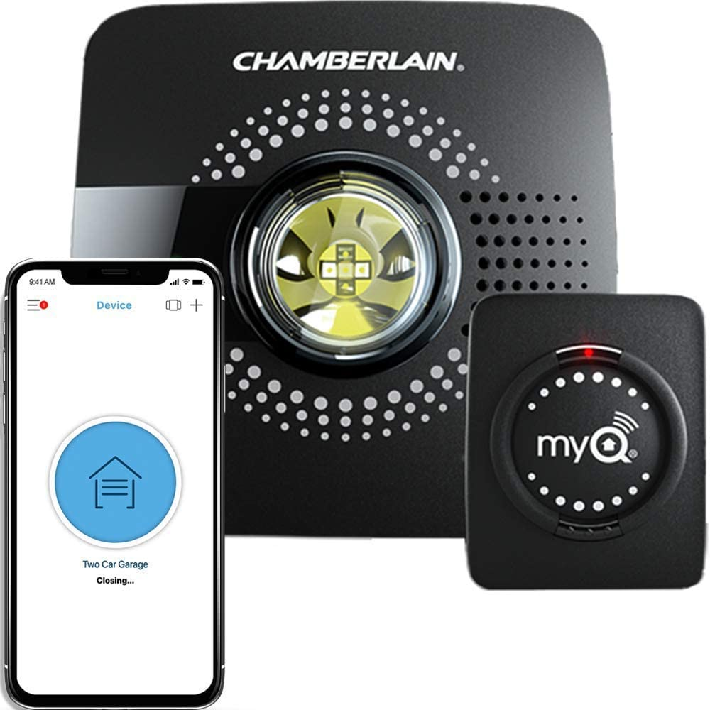 Thanks to the MyQ Smart Garage Door Opener, you can access your garage from anywhere through the MyQ app on your smartphone.