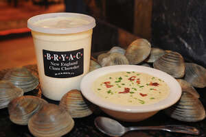 New England clam chowder from BRYAC in the Black Rock section of Bridgeport.