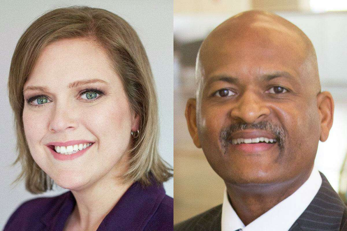 Two civil rights groups on Tuesday, Oct. 13, 2020, filed judicial complaints against Harris County state district Judges Amy Martin, left, and Robert Johnson. The filing claims the judges have unlawfully underutilized the Harris County Public Defenders' Office in appointments for indigent defendants, violating state law.