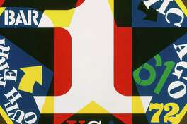 """Robert Indiana's """"Decade: Autoportrait 1961"""" is included in """"Robert Indiana: A Legacy of Love"""" at the McNayy Art Museum."""