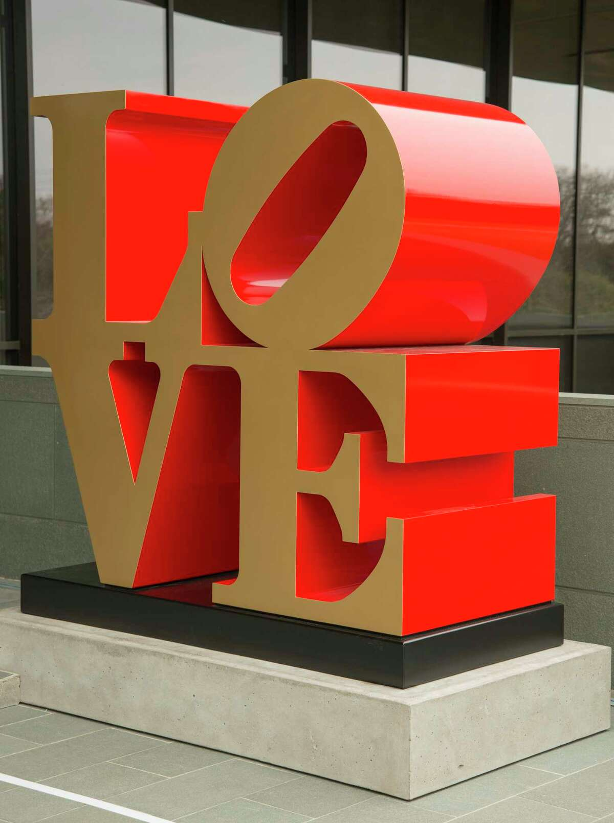 """Robert Indiana's painted aluminum """"Love"""" is on display on the grounds of the McNay Art Museum. The museum is exploring the artist's work in """"Robert Indiana: A Legacy of Love."""""""