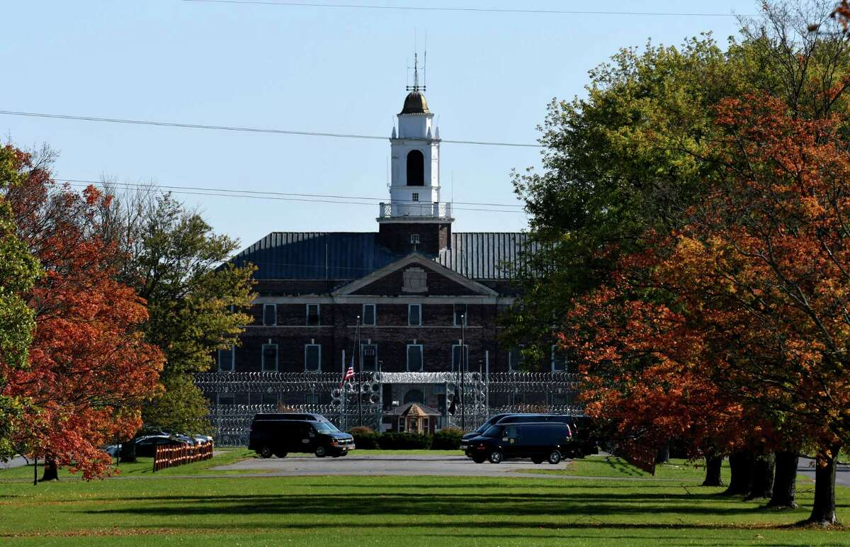 Exterior of the Coxsackie Correctional Facility prison on Wednesday, Oct. 14, 2020, in Coxsackie, N.Y.(Will Waldron/Times Union)