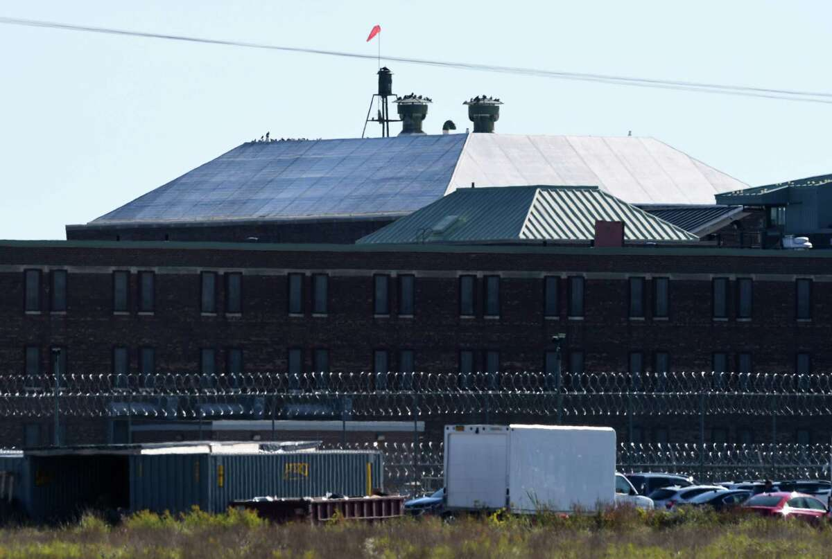 Exterior of the Coxsackie Correctional Facility prison on Wednesday, Oct. 14, 2020, in Coxsackie, N.Y. (Will Waldron/Times Union)