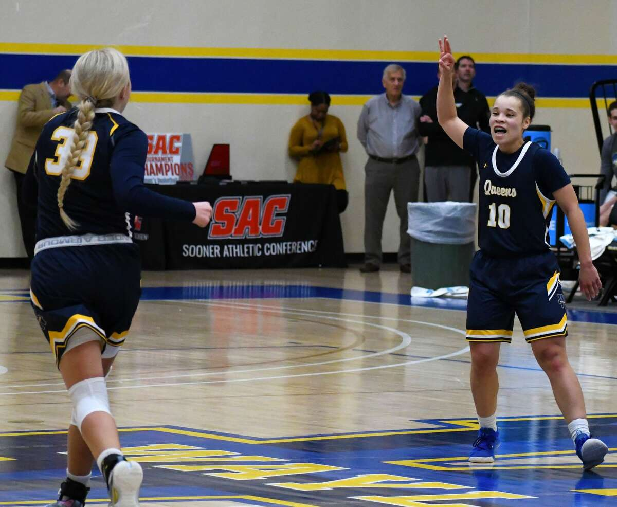 Payton Brown (10) and Jenna Cooper are two of the players that have the Wayland Baptist Flying Queens in No. 2 slot in the preseason NAIA women's basketball poll that was released on Wednesday.