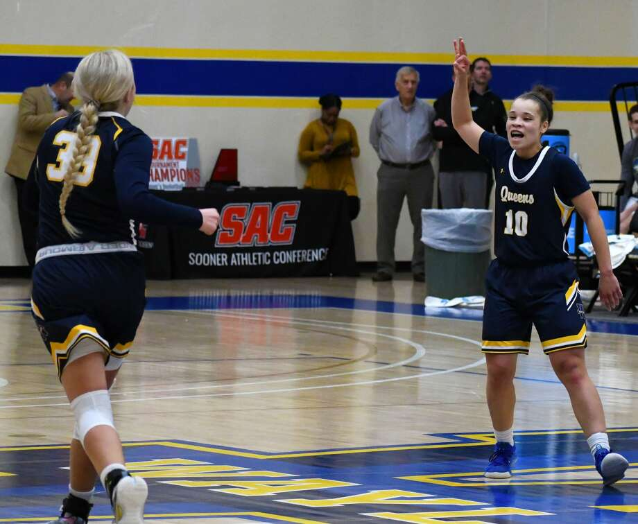 Payton Brown (10) and Jenna Cooper are two of the players that have the Wayland Baptist Flying Queens  in No. 2 slot in the preseason NAIA women's basketball poll that was released on Wednesday. Photo: Nathan Giese/Planview Herald