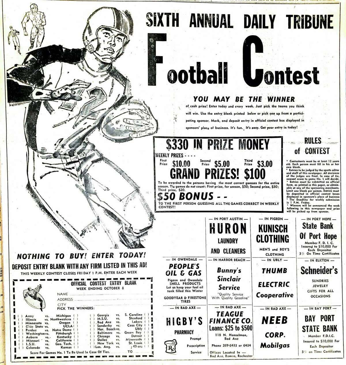 For this week's Tribune Throwback we take a look in the archives from October 1961.