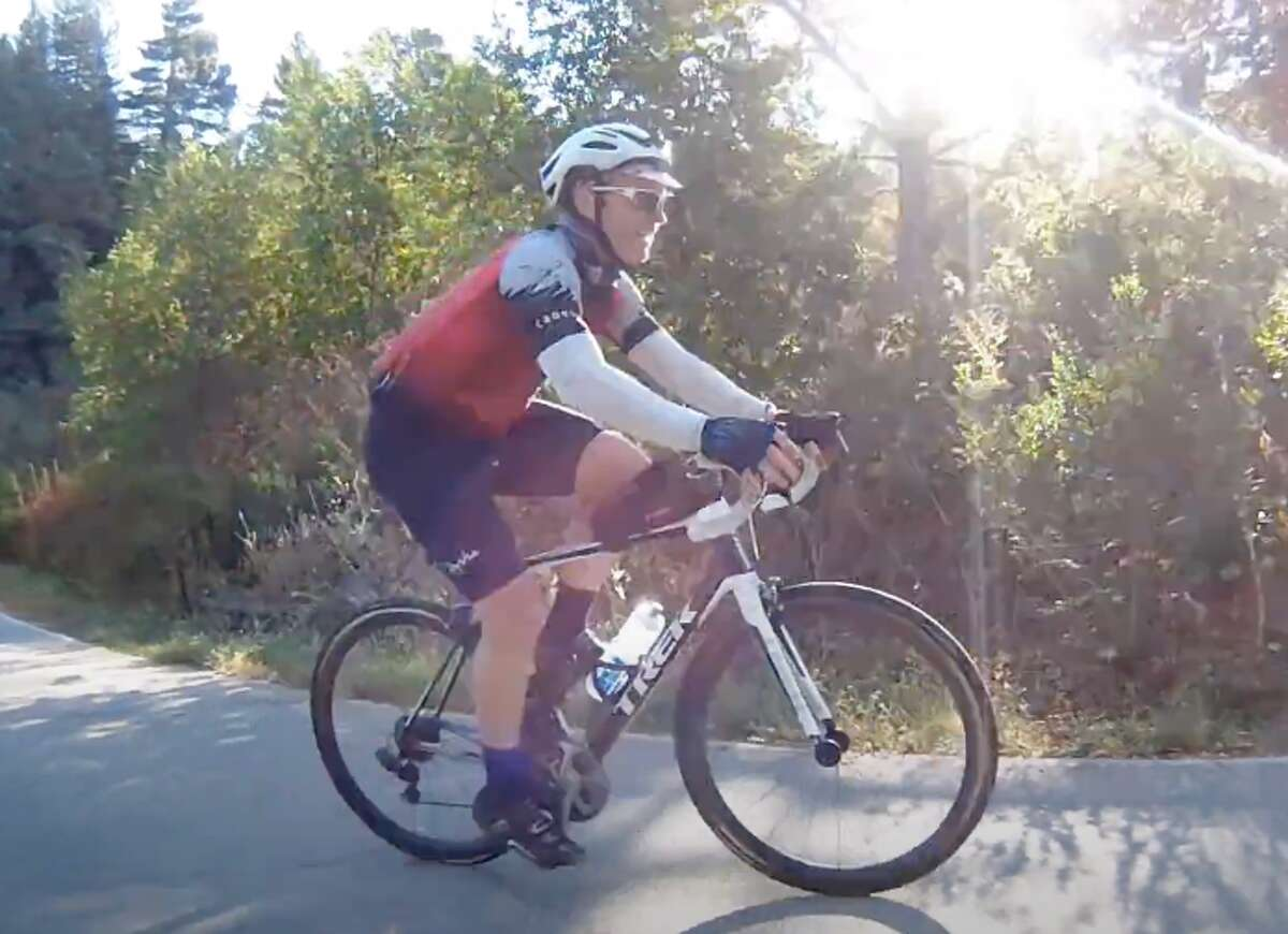 Kevin Ahlvin's Everesting quest in Tilden Park in Berkeley, Calif.