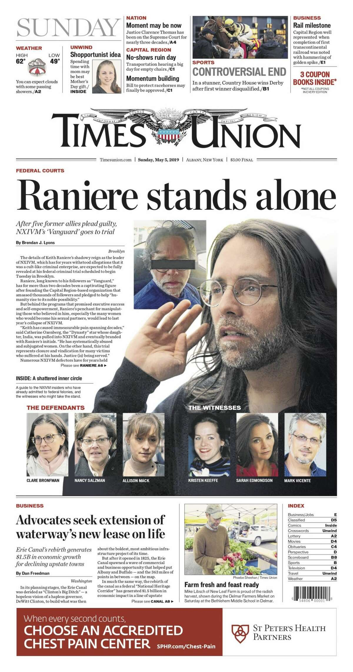 NXIVM front pages (Times Union Archive)