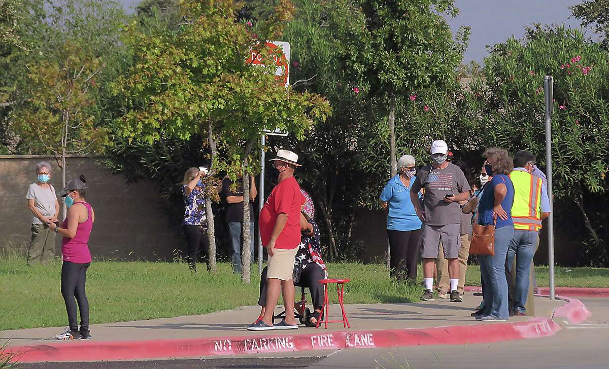 Laredoans lined up bright and early Tuesday, October 13, 2020, as Early Voting got underway for this year's elections.