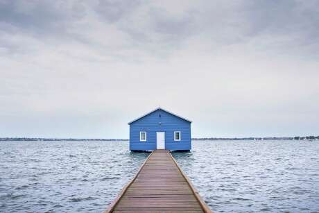 "Crawley Edge Boatshed in Perth, Australia, photographed by James Wong for the book ""Accidentally Wes Anderson"" by Wally Koval with Amanda Koval, published by Little Brown & Co."
