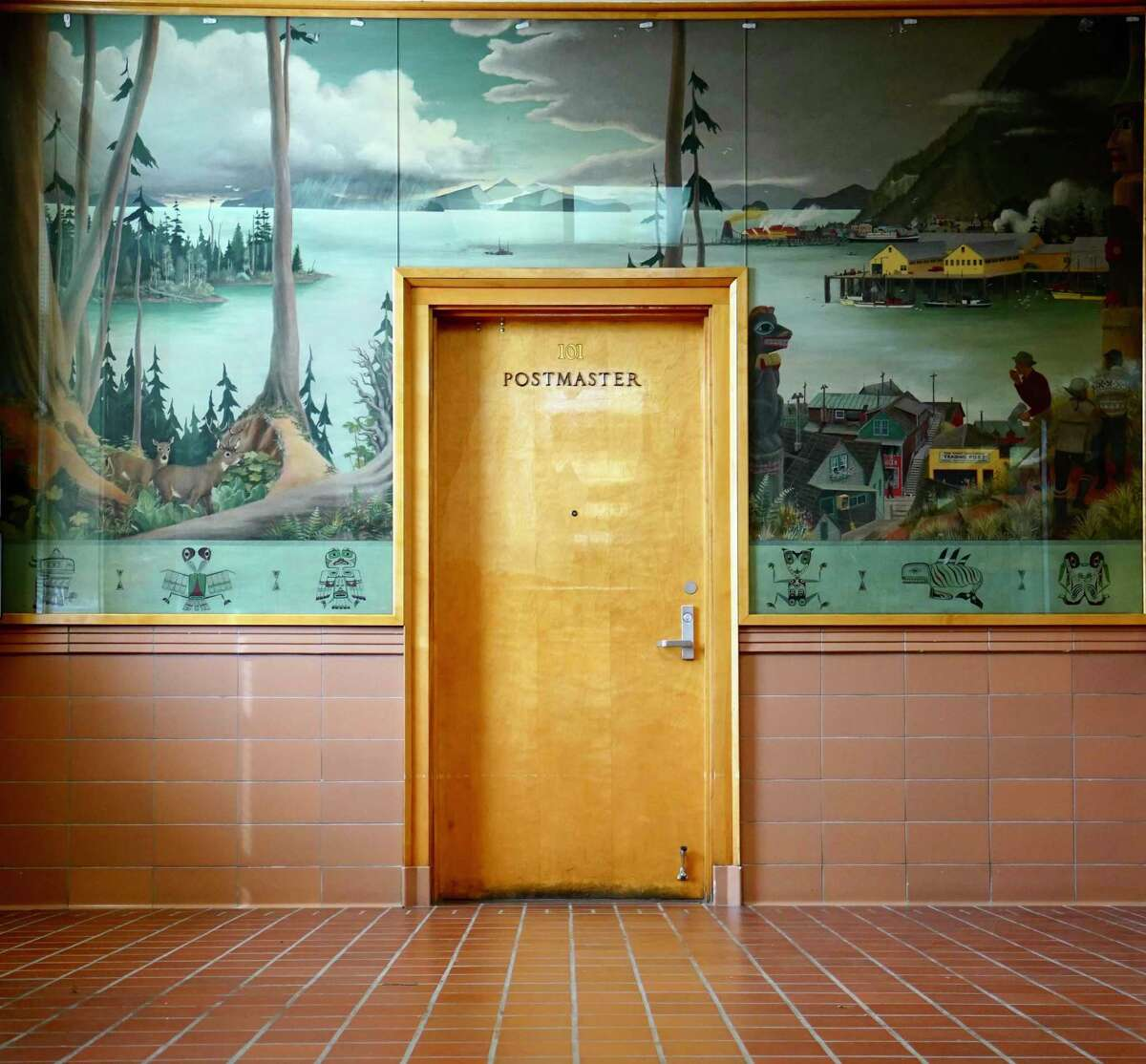 Post Office in Wrangell, Alaska, photographed by Heath Travels for the book