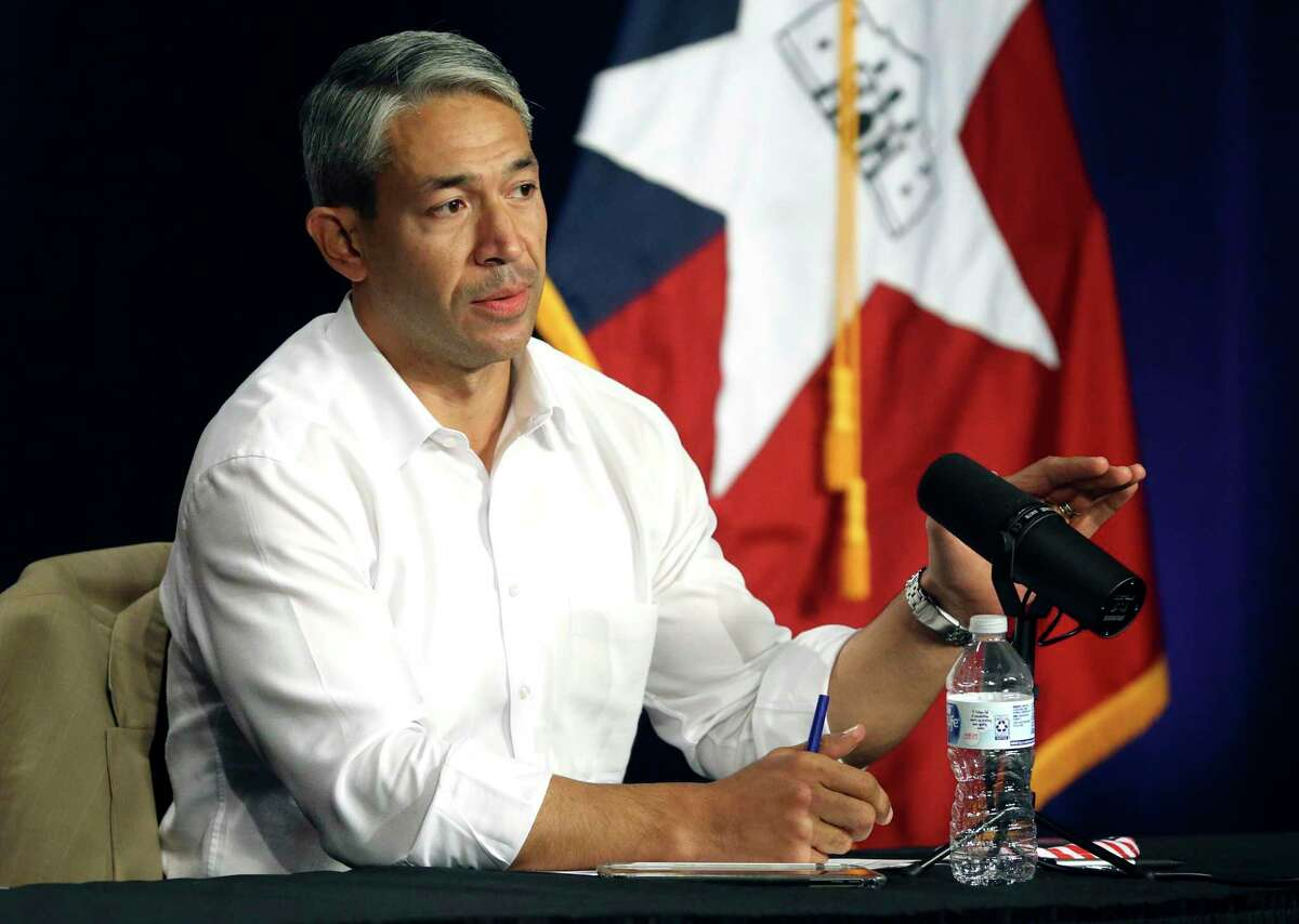 Mayor Ron Nirenberg speaks during the joint city-county coronavirus briefing on Sept. 28, 2020. Nirenberg has backed Democrat Gina Ortiz Jones in the race to control Texas' 23rd Congressional Dsitrict.