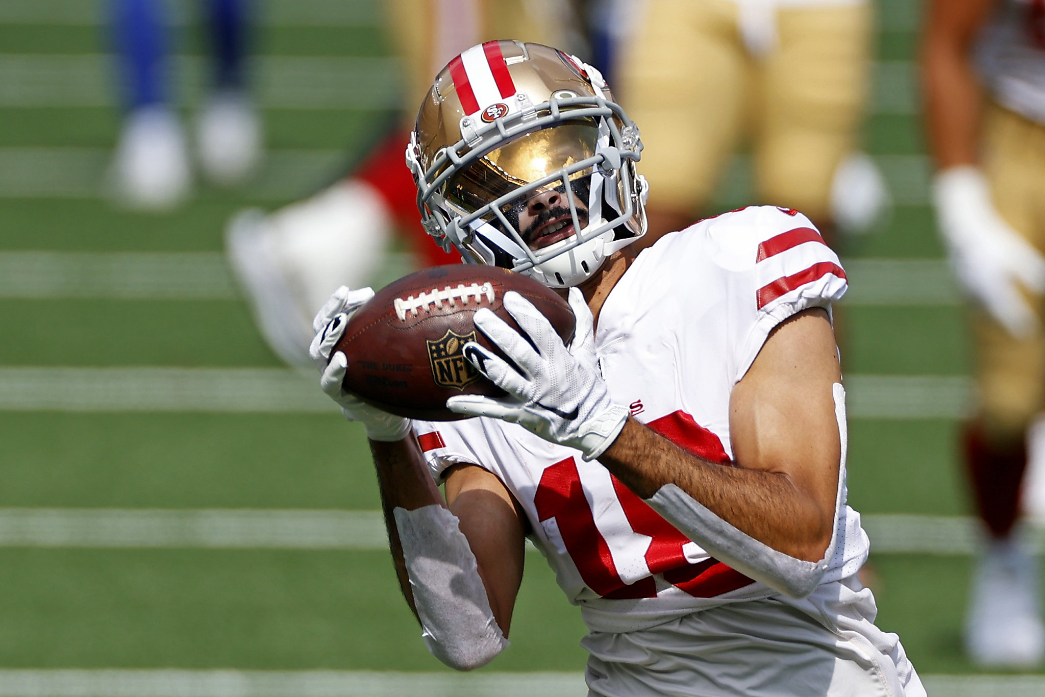 Shanahan cited improvement by Pettis, but receiver sits out another game