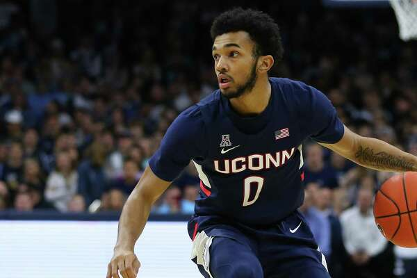 UConn sophomore Jalen Gaffney is eager to show his explosiveness and overall athleticism this season after a high ankle sprain slowed him a bit as a freshman.