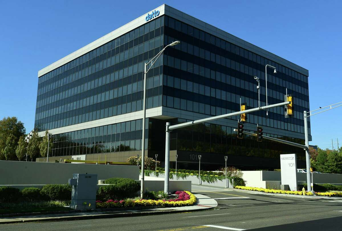 Datto headquarters at 101 Merritt 7 Wednesday, October 14, 2020, in Norwalk, Conn.