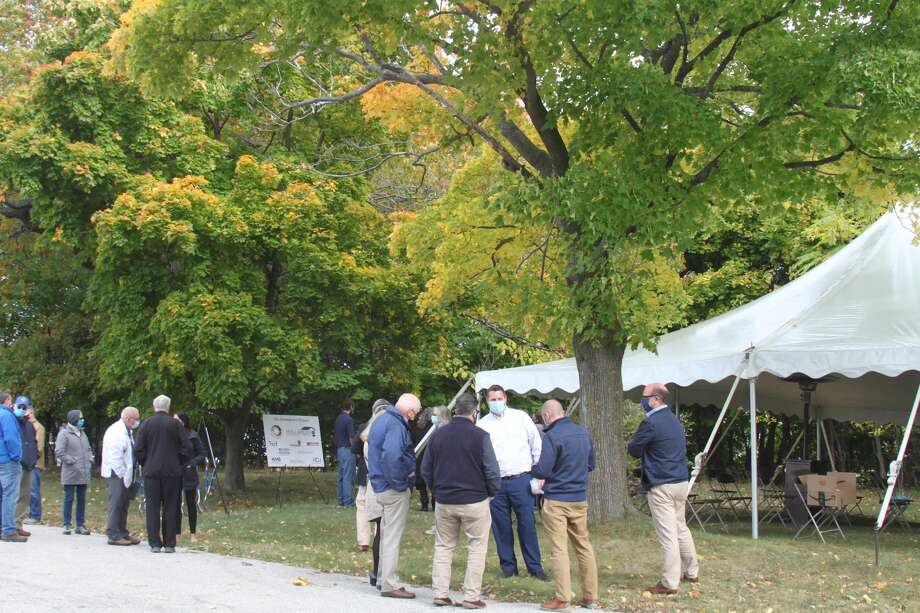Hollander Development Corporation and Little River Holdings hosted a groundbreaking ceremony for Hillcrest Apartments on Wednesday afternoon. Photo: Erin Glynn/Manistee News Advocate