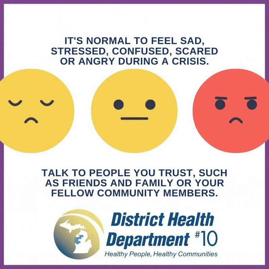 District Health Department #10 recommends reaching out to your community in times of crisis. (Infographic from DHD#10)