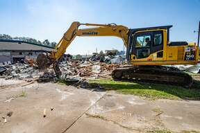 The Humane Society of Southeast Texas is making room for improvements to its facility in Beaumont by demolishing some of the old building. Photo made on October 12, 2020. Fran Ruchalski/The Enterprise