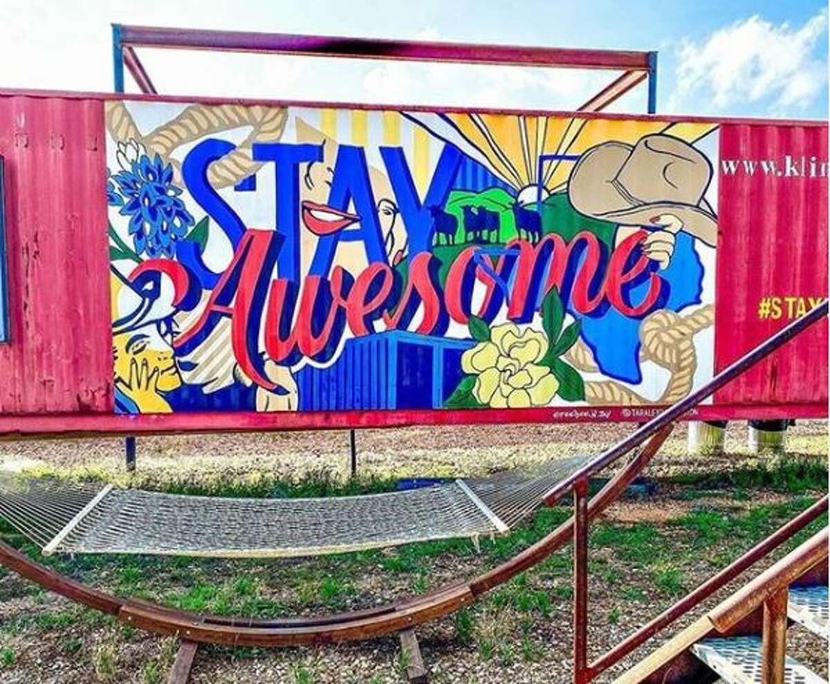 It started out as a dare, an intriguing opportunity to spend the night inside the quirky shipping container hotel Flophouze tucked right in the middle of the Texas Hill Country.