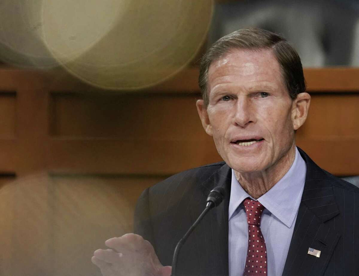 Senator Richard Blumenthal, a Democrat from Connecticut, speaks during a Senate Judiciary Committee confirmation hearing in Washington, D.C., U.S., on Wednesday, Oct. 14, 2020. Senate Democrats entered a second day of questioning Amy Coney Barrett having made few inroads in their fight to keep her off the Supreme Court and elicited few clues about how she would rule on key cases. Photographer: Ken Cedeno/UPI/Bloomberg