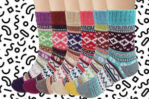 Loritta 6 Pairs Women's Wool Socks  Amazon Prime Lightning Deal.