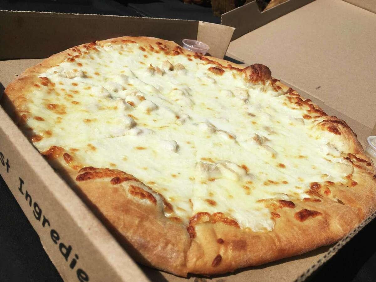 The chicken Alfredo pizza at Catalano's Pizzeria in Cibolo
