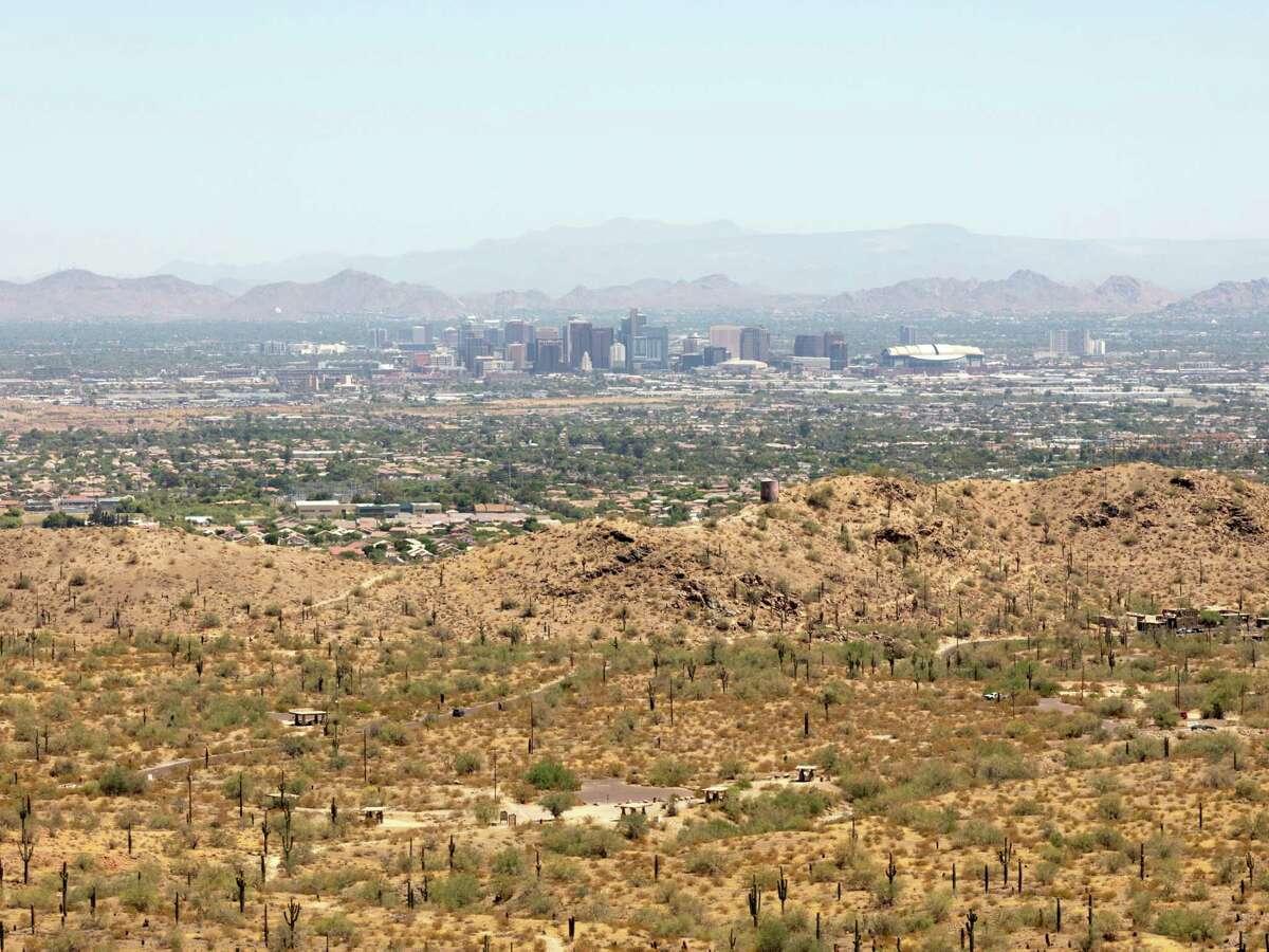 A view of Phoenix from South Mountain Park on June 18, 2020.