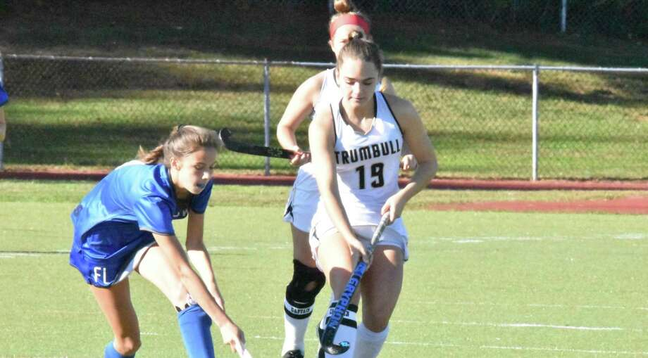 Senior tri-captain Lauren Buck scored her team-leading third goal of the season to lead Trumbull. Photo: Trumbull Athletics / Contributed Photo / Trumbull Times