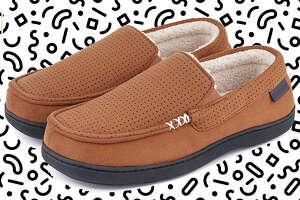 Men's Comfy Suede Memory Foam Moccasin Slippers
