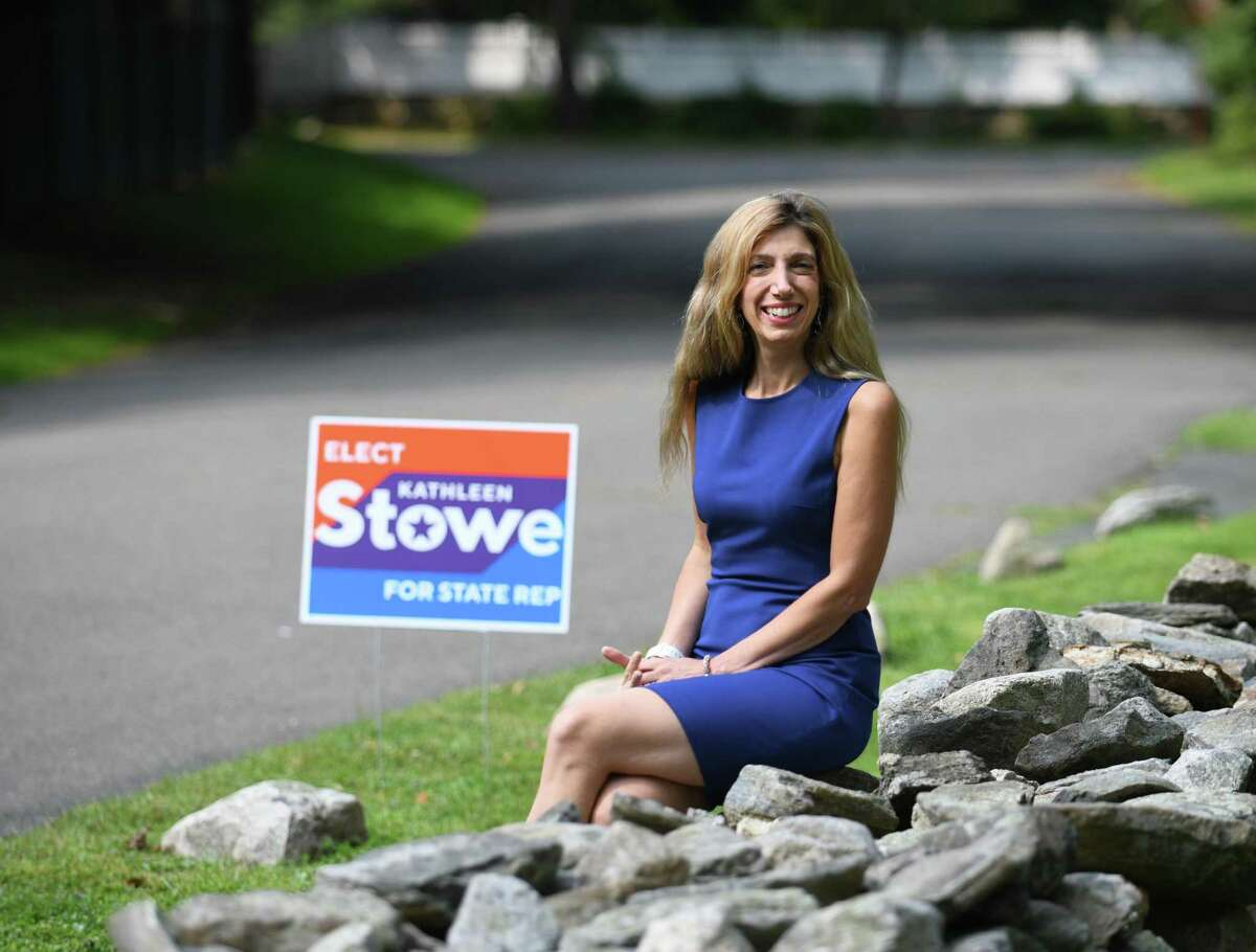 Kathleen Stoweposes at her home in Greenwich, Conn. on Sept. 16. Kathleen Stowe, Democrat When asked about the issues facing the state and what needs to be addressed in the next legislative session, the answer is an easy one for Kathleen Stowe.