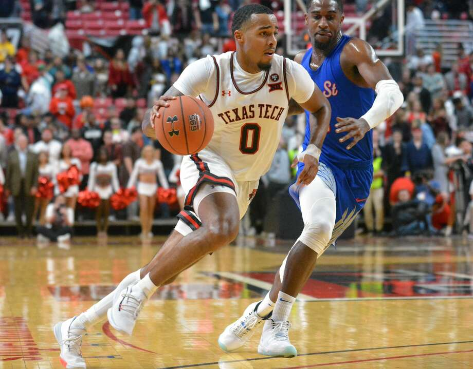 Kyler Edwards has taken on a bigger leadership role for the Texas Tech men's basketball team as the Red Raiders get read for the 2020-21 season. Photo: Nathan Giese/Planview Herald