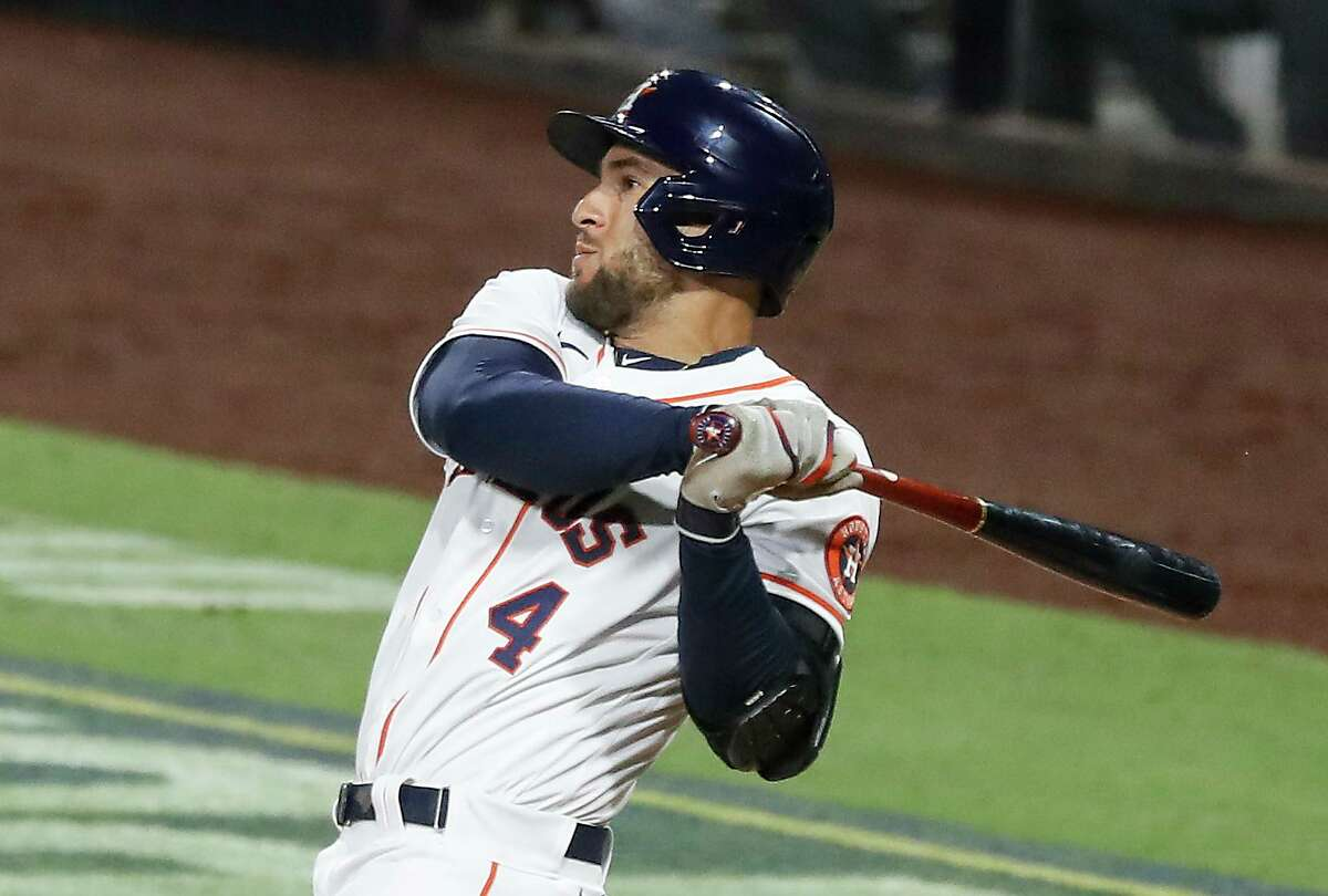George Springer is gone, leaving a hole at the top of the Astros' lineup and in center field after being a staple there for seven seasons.