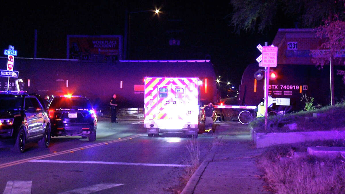 One man is dead after getting struck by a train at N. Pine and Duval streets on Oct. 15, 2020.