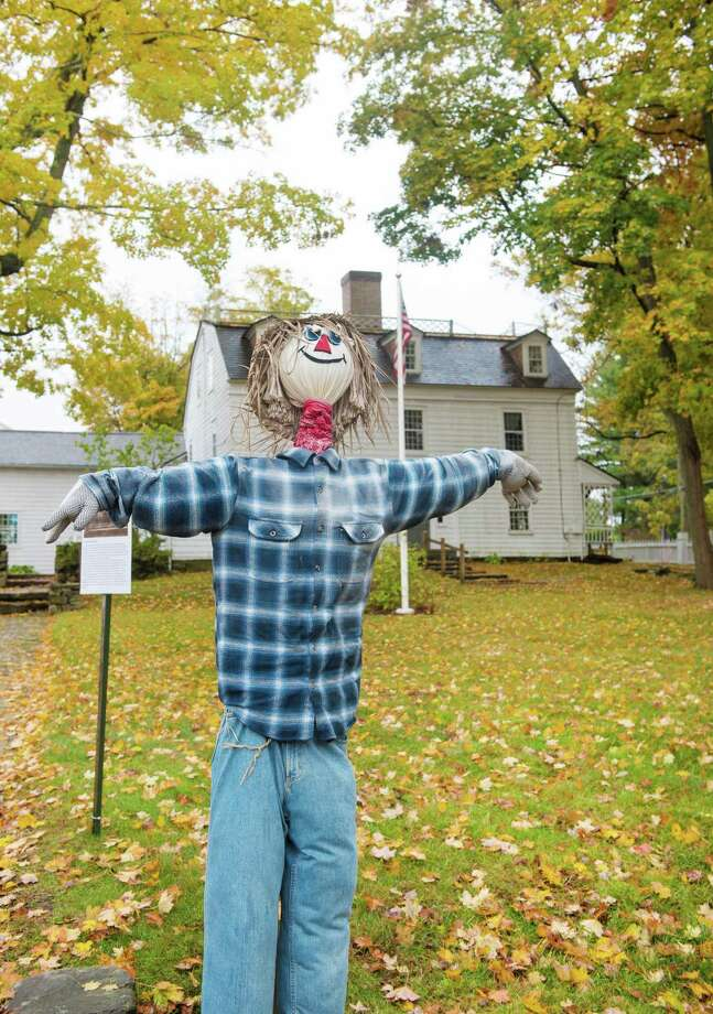 The Keeler Tavern Museum will be hosting a scarecrow contest during this year's Fall in Love with Ridgefield starting Saturday, October 17, 2020 in Ridgefield, Conn. Due to COVID-19 precautions voting will be online. Photo: Bryan Haeffele // Bryanhaeffele.com / Hearst Connecticut Media / BryanHaeffele