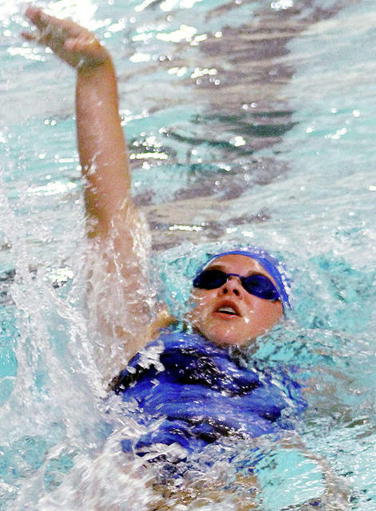 Freshman Grace Middleton is one of 12 swimmers from Alton High who will take part in a five-way meet Saturday in at the Chuck Fruit Aquatic Center in preparation for the IHSA Girls Sectional Meet, also in Edwardsville, set for Oct. 24