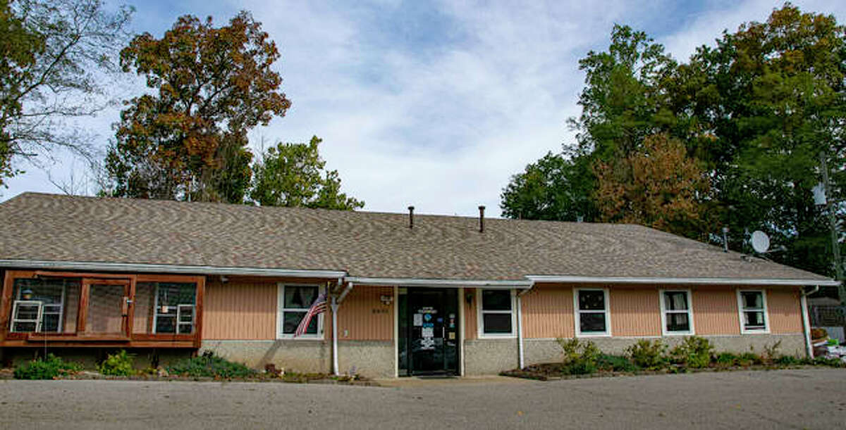 The new roof on the Humane Society building at 8495 State Route 143 in Edwardsville.