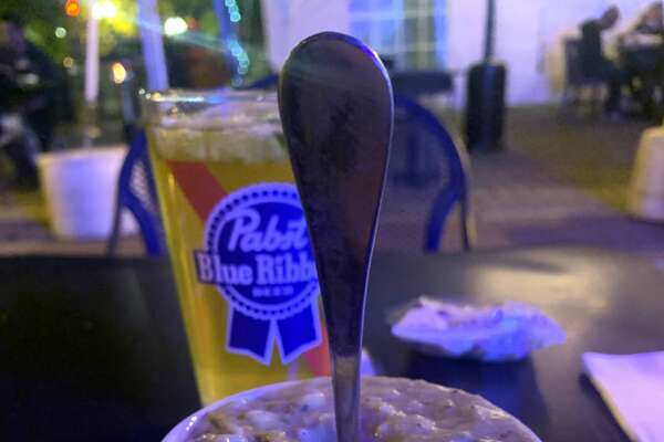 Thick enough for you? The chowder that launched a hundred responses. (Steve Barnes/Times Union.)