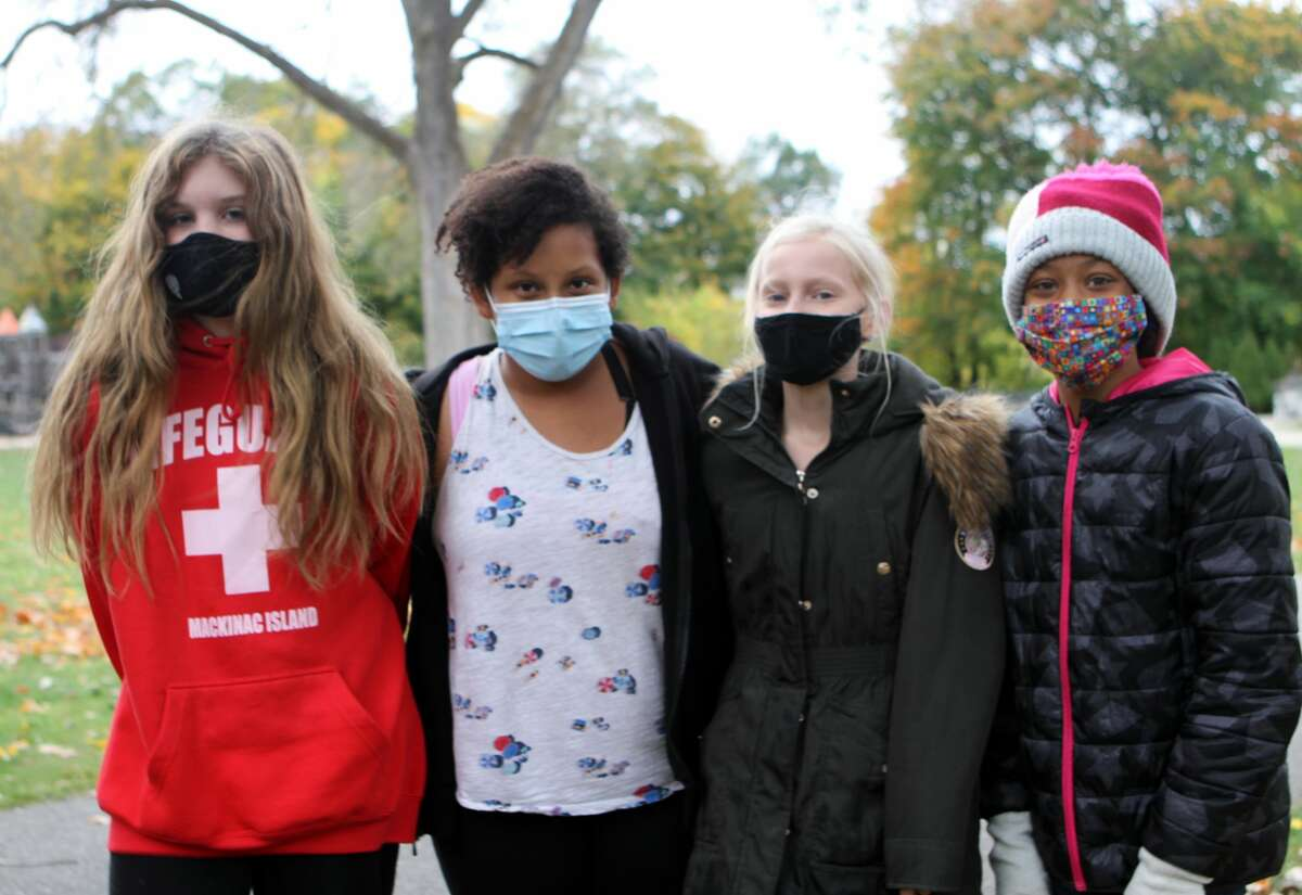 A portion of the Muskegon River was restocked Thursday morning with help from a group of Big Rapids Middle School students.
