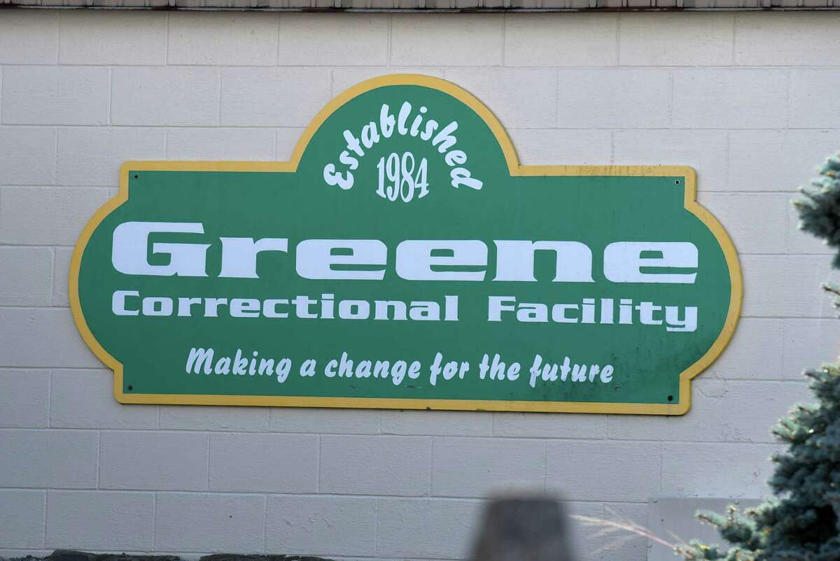 Entry sign at the Greene Correctional Facility prison on Thursday Oct. 15, 2020, in Coxsackie, N.Y. Greene County is experiencing an increase in COVID-19 cases that local health officials say stem from an outbreak at the state prison. (Will Waldron/Times Union)