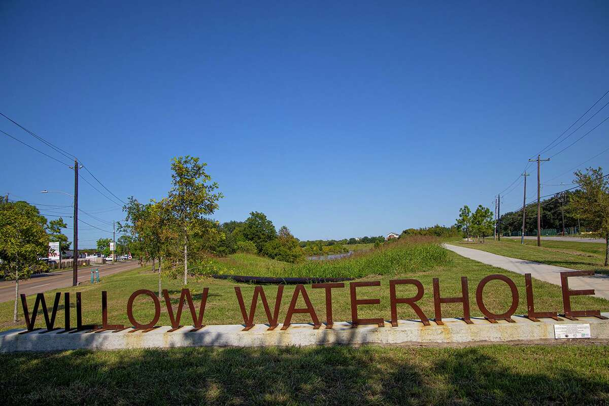 Willow Waterhole Park is a series of stormwater detention ponds surrounded by beautiful greenspace near Westbury in Houston. Photo Credit: Kathy Adams Clark. Restricted use.