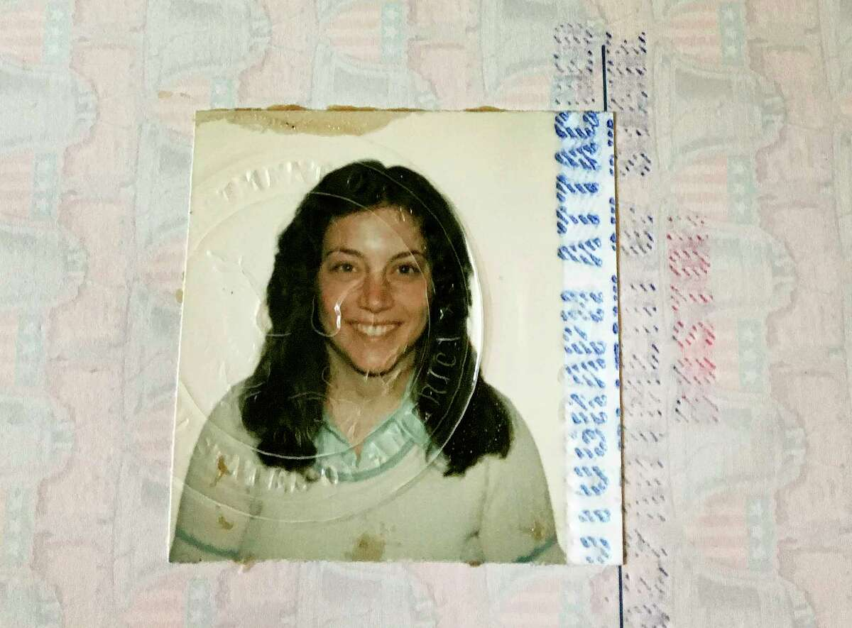 The author's first passport, issued for her honeymoon to England in 1982.