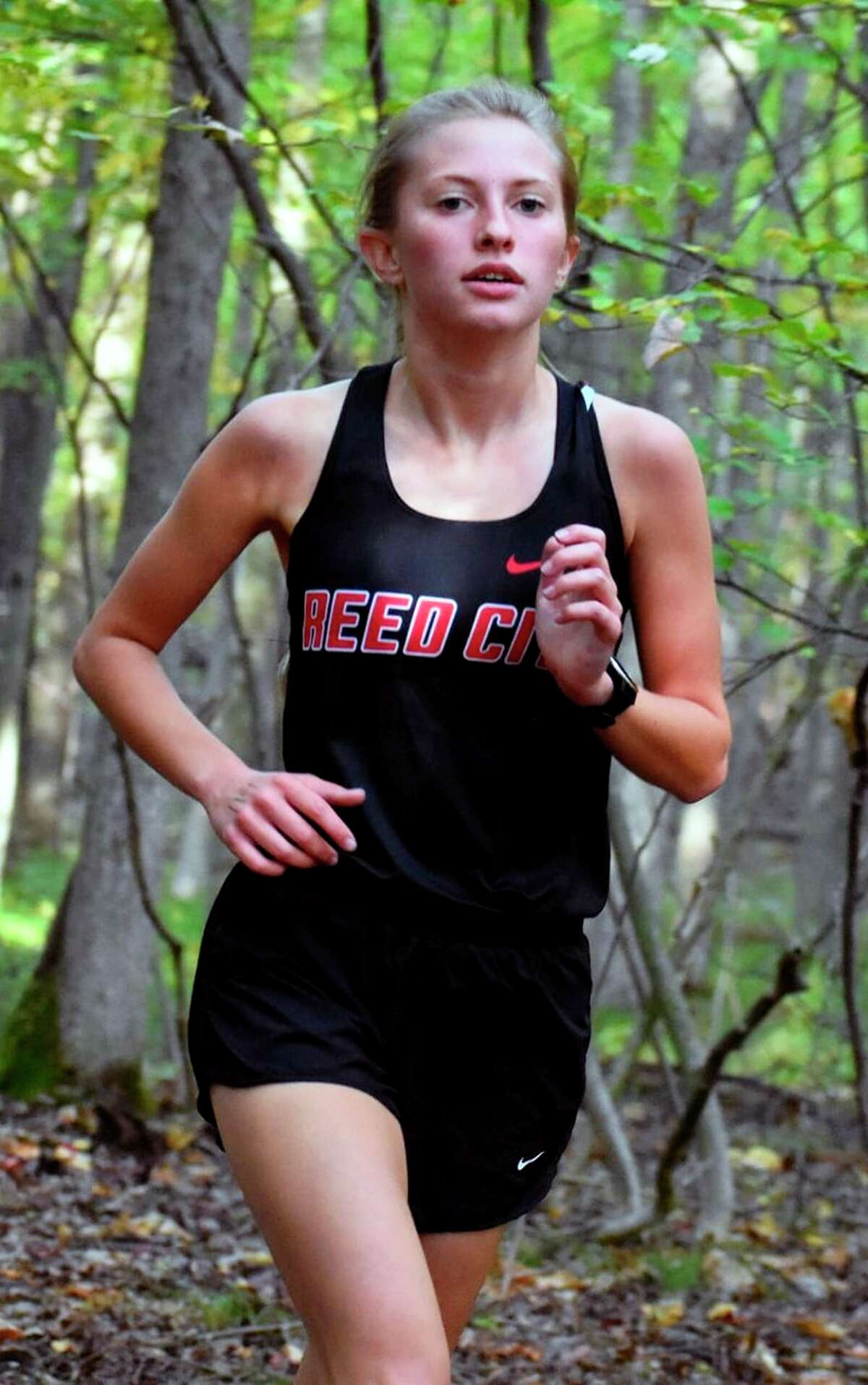 Brooke Miller of Reed City is turning in an impressive cross-country season for the Coyotes. (Courtesy photo)
