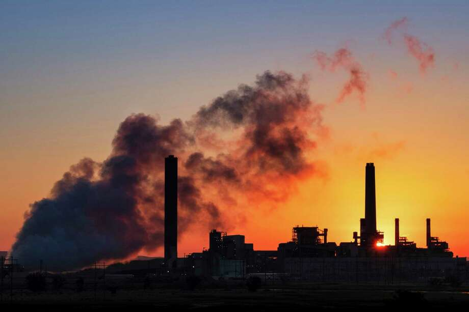 A coal-fired power plant in Wyoming burns in 2018. Even in Wyoming, climate science is taught appropriately in schools, a recent report found. C'mon Texas, step it up. Photo: Associated Press File Photo / Copyright 2019 The Associated Press. All rights reserved.