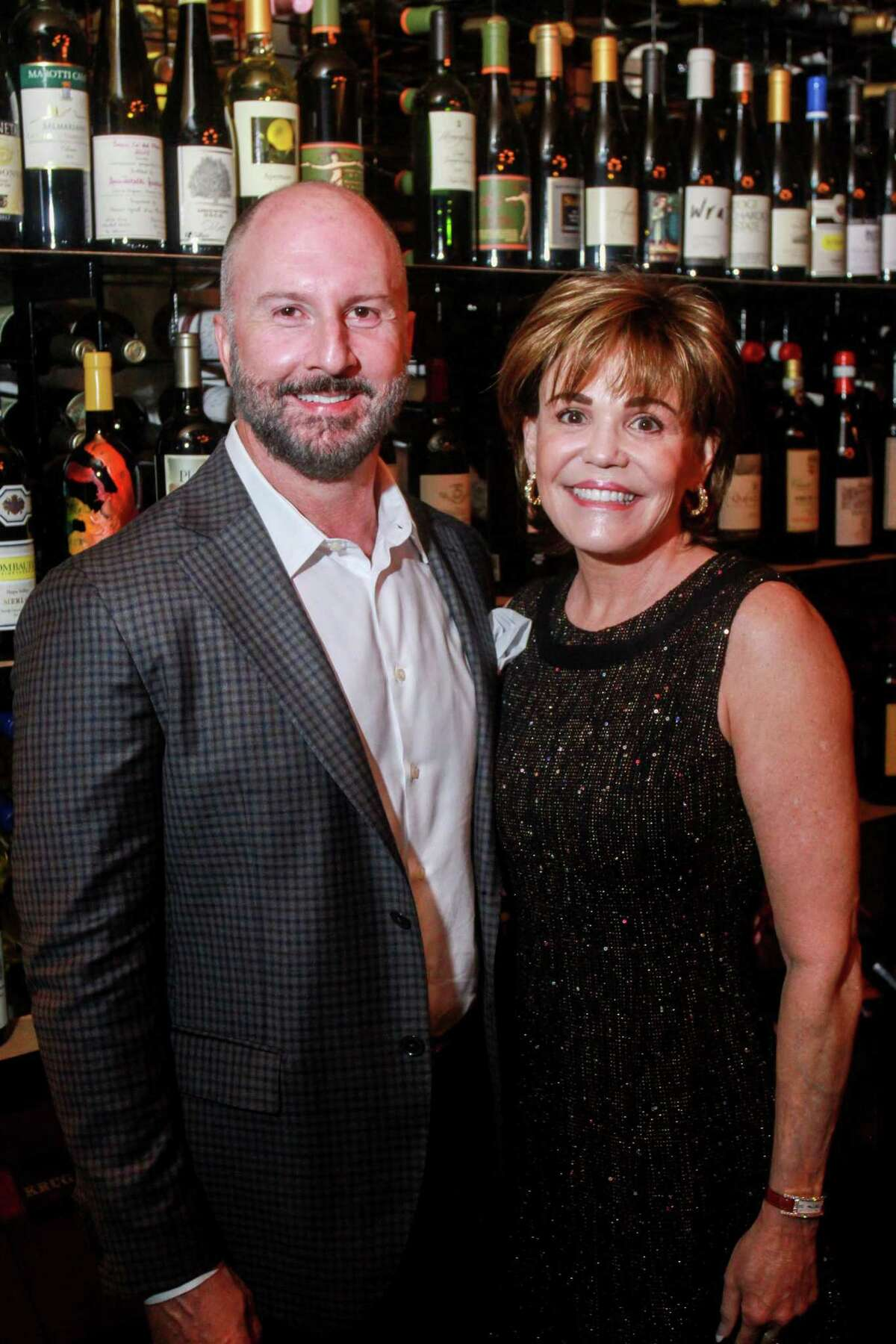 Honoree Tony Bradfield and Hallie Vanderhider at AVDA's Home Safe Home Gala in Houston on October 14, 2020.