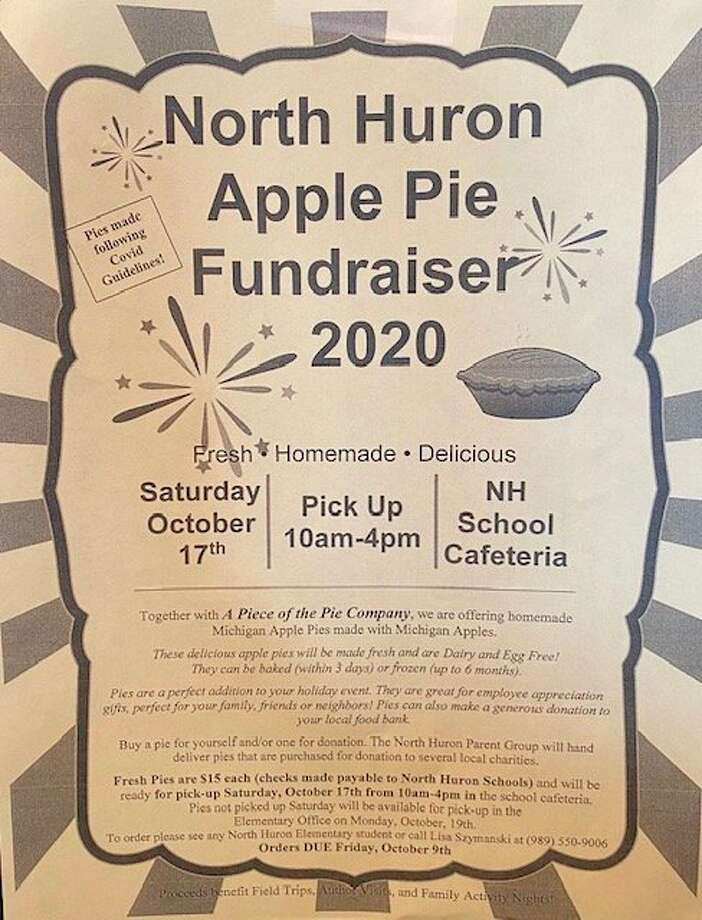The North Huron Parent Group is holding their third annual apple pie fundraiser, orders are being accepted now through Friday October 9. (Courtesy Photo)
