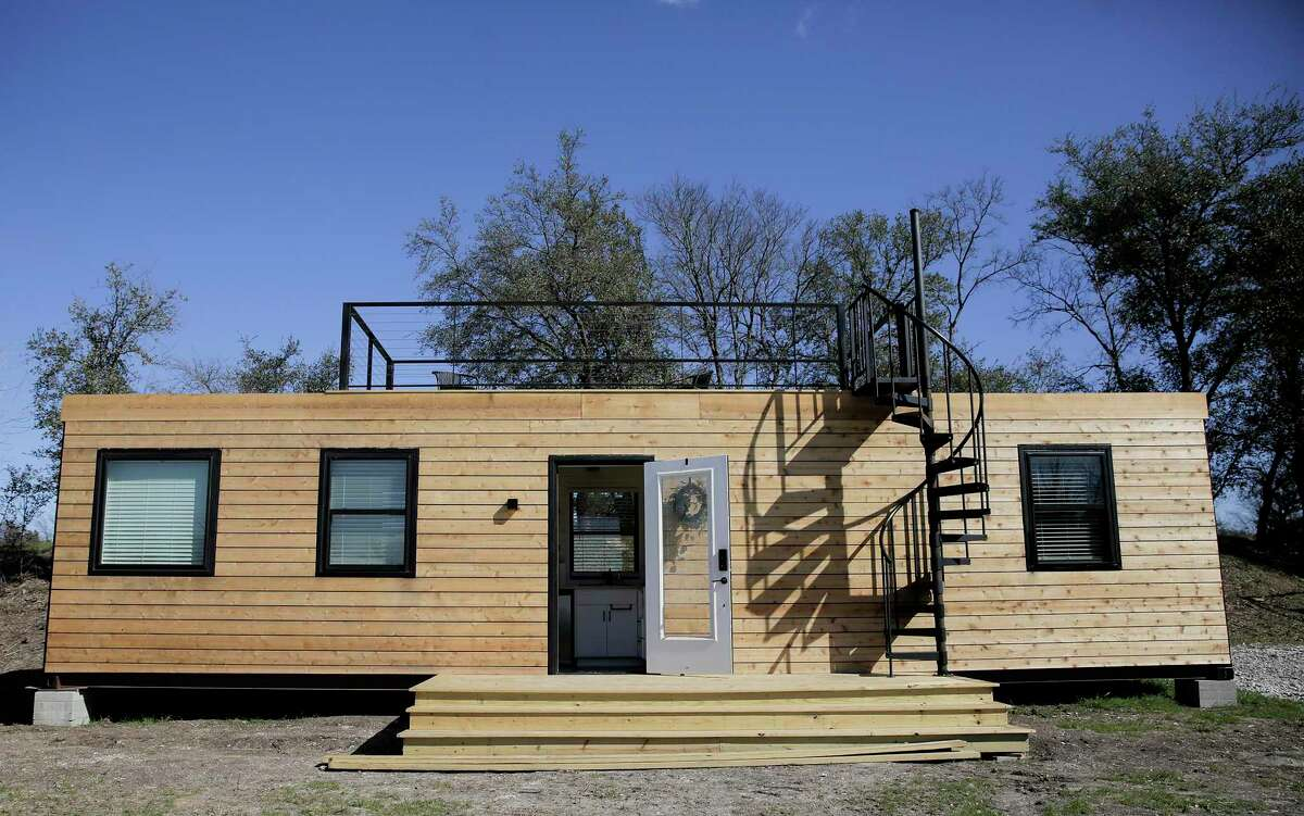 The Mainhelm model from Cargo Homes is one of the popular rentals in Waco, Texas on Wednesday, Feb. 26, 2020. A startup in Waco is trying to encourage people who have never invested in real estate to put their money into tiny homes.