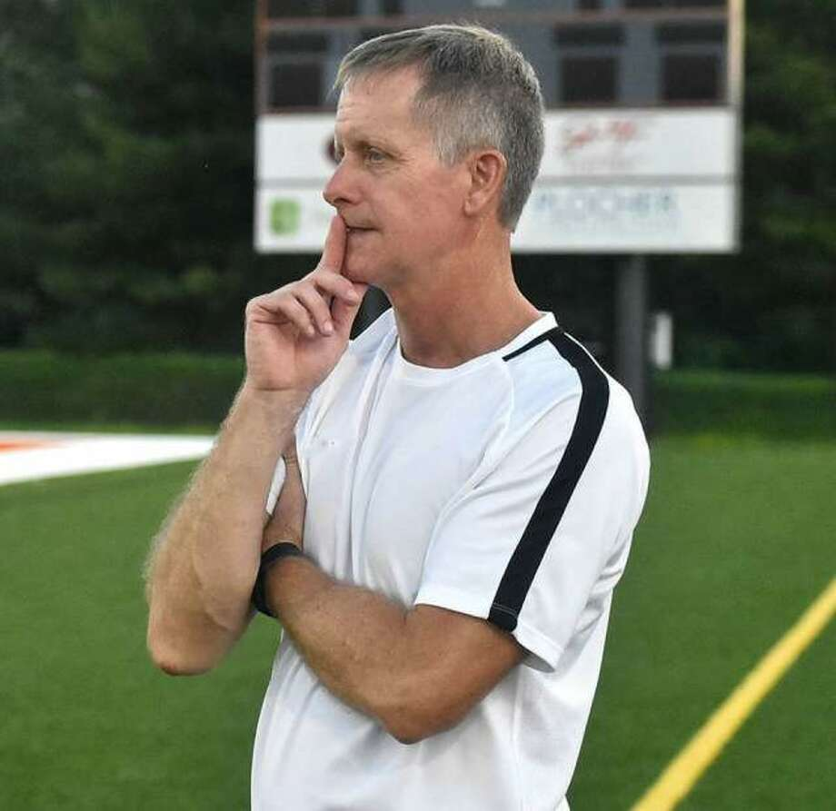 Edwardsville boys soccer coach Mark Heiderscheid was one of six coaches selected for the High School All-American Game on May 29, 2021, in St. Louis. Photo: Matt Kamp The Intelligencer
